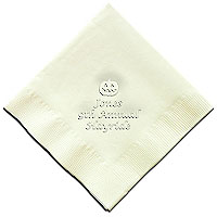 Classic Impressions - Embossed 3-ply Beverage/Luncheon Napkins (Jack O' Lantern)