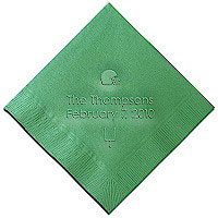 Classic Impressions - Embossed 3-ply Beverage/Luncheon Napkins (Football Helmet)