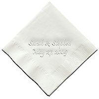 Classic Impressions - Embossed 3-ply Beverage/Luncheon Napkins (Wedding Napkin with Date)