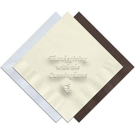 Classic Impressions - Embossed 3-ply Beverage/Luncheon Napkins (Thanksgiving)