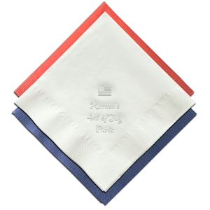 Classic Impressions - Embossed 3-ply Beverage/Luncheon Napkins (Patriotic)