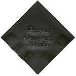Classic Impressions - Embossed 3-ply Beverage/Luncheon Napkins (New Year Calligraphy)