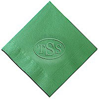 Classic Impressions - Embossed 3-ply Beverage/Luncheon Napkins (Embossed Circle Monogram)
