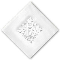 Classic Impressions - Linen-Like Beverage Napkins (Linen Vineyard Initial)