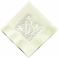 Classic Impressions - Embossed 3-ply Beverage/Luncheon Napkins (Vineyard Initial - RT20C-RT20D)