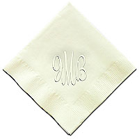 Classic Impressions - Embossed 3-ply Beverage/Luncheon Napkins (Easton Monogram RT14L-RT14M)