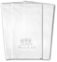 Classic Impressions - Guest Towels (Wedding Monogram - WB8023)