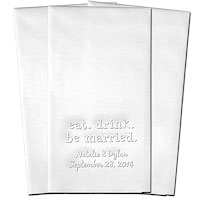 Classic Impressions - Embossed Guest Towels (Eat. Drink. Be Married.) - WB8025