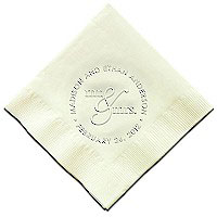 Classic Impressions - Embossed 3-ply Beverage/Luncheon Napkins (Mr & Mrs Embossed 3-ply Beverage/Luncheon Napkins)