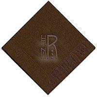 Classic Impressions - Embossed 3-ply Beverage/Luncheon Napkins (Mission Monogram)