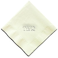 Classic Impressions - Embossed 3-ply Beverage/Luncheon Napkins (Bride and Groom Wedding Embossed 3-ply Beverage/Luncheon Napkins)