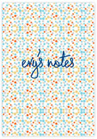 Evy Jacob Composition Notebooks (Confetti - Aqua Gold Silver & Orange) (NB02)