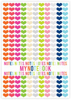 Evy Jacob Composition Notebooks (Lots Of Hearts - My Notebook) (NB06)