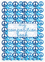 Evy Jacob Composition Notebooks (Lots Of Peace - Blue) (NB07)