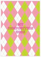 Evy Jacob Composition Notebooks (Pink Argyle) (NB10)