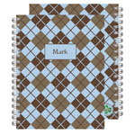 Milo Paper - Spiral Notebooks (Blue Argyle) (102)