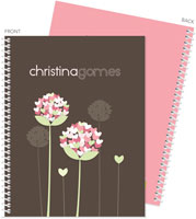 Spark & Spark Note Notebooks - Blossoms On Chocolate (03-NBS-1400-55)