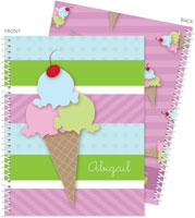 Spark & Spark Note Notebooks - Yummy Ice Cream (03-NBS-1400-58)