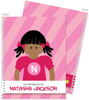 Spark & Spark Note Notebooks - Super African American Girl  (03-NBS-1400-60-04)