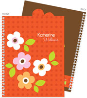 Spark & Spark Note Notebooks - Preppy Flowers (Orange) (03-NBS-1400-63-06)