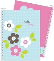 Spark & Spark Note Notebooks - Preppy Flowers (Blue) (03-NBS-1400-63-12)