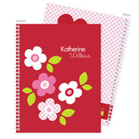 Spark & Spark Note Notebooks - Preppy Flowers (Red) (03-NBS-1400-63-14)