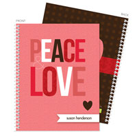 Spark & Spark Note Notebooks - Peace & Love (03-NBS-1400-64)