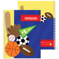 Spark & Spark Note Notebooks - My Love For Sports (03-NBS-1401-53)