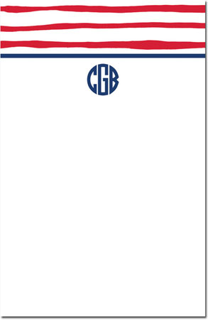Boatman Geller - Create-Your-Own Large Note Pads (Brush Stripe)