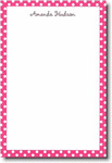 Boatman Geller Note Pads - Raspberry Polka Dot (#16103)