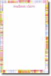 Boatman Geller Note Pads - Pink Madras Patch