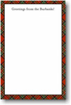 Boatman Geller Note Pads - Red Plaid