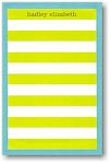 Boatman Geller Note Pads - Rugby Stripe Lime/Blue Border