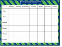 Donovan Designs Calendar Note Pads - Blue And Green Diagonal Stripe