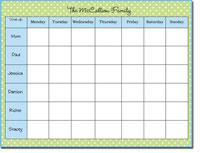 Donovan Designs Calendar Note Pads - Green And Blue Dot