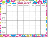 Donovan Designs Calendar Note Pads - Fun Flower (#PWSP5)
