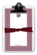 Noteworthy Collections College Clipboard & Notesheets - Gingham (Texas A&M University) (CCP-TAM1)