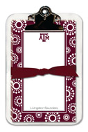 Noteworthy Collections College Clipboard & Notesheets - Circle Burst (Texas A&M University) (CCP-TAM2)