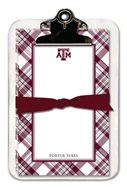 Noteworthy Collections College Clipboard & Notesheets - Plaid (Texas A&M University) (CCP-TAM3)