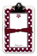 Noteworthy Collections College Clipboard & Notesheets - Simple Dot (Texas A&M University) (CCP-TAM4)