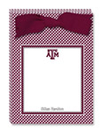 Noteworthy Collections College Tear Pads - Gingham (Texas A&M University) (CTP-TAM1)