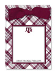 Noteworthy Collections College Tear Pads - Plaid (Texas A&M University) (CTP-TAM3)