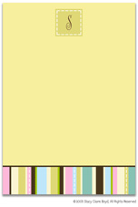 Stacy Claire Boyd Stationery - Stiches and Stripes (Padded Stationery)