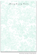 Stacy Claire Boyd Stationery - Summerland Toile - Blue (Padded Stationery)