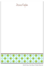 Stacy Claire Boyd Stationery - Floral Mosaic - Blue (Padded Stationery)