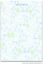 Stacy Claire Boyd Stationery - Spring Village (Padded Stationery)