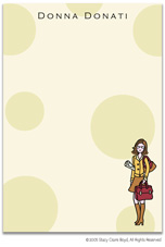 Stacy Claire Boyd Stationery - Working Girl (Padded Stationery)