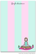Stacy Claire Boyd Stationery - Yoga Girl (Padded Stationery)