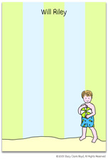 Stacy Claire Boyd Stationery - Beach Boy (Padded Stationery)