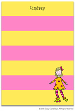 Stacy Claire Boyd Stationery - Roller-Skate - Girl (Padded Stationery)